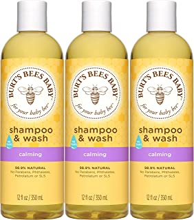 product image for Burt's Bees Baby Shampoo & Wash, Calming Tear Free Baby Soap - 12 Fl Oz Bottle (Pack of 3)
