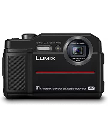 Panasonic DMC-FT7EB-K Tough compact Camera (31m waterproof) with EVF, 20 MP high sensitivity sensor and 4K Video/4K Photo/Post Focus - Black