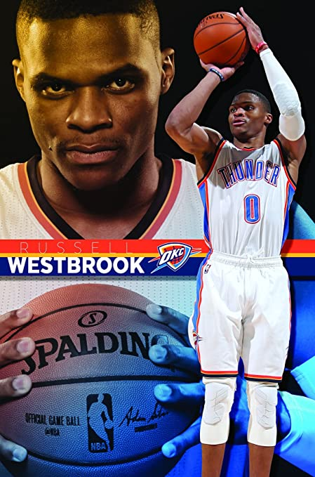 Trends International Oklahoma City Thunder Russell Westbrook Wall Poster  22.375u0026quot; ...