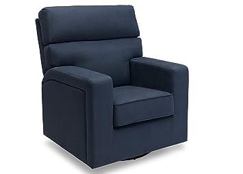 Delta Furniture Chase Upholstered Glider Swivel Rocker Chair Navy