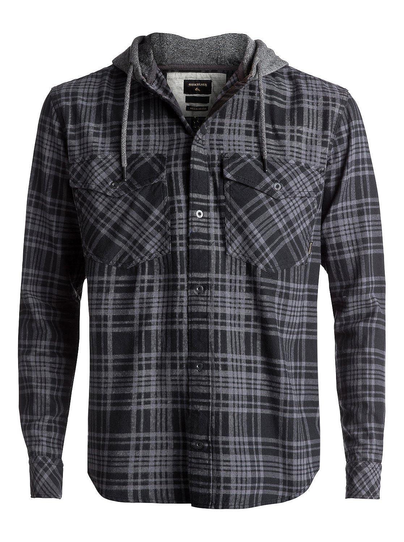 Quiksilver Snap Up Flannel - Camisa De Manga Larga con Capucha para Hombre: Amazon.es: Ropa y accesorios