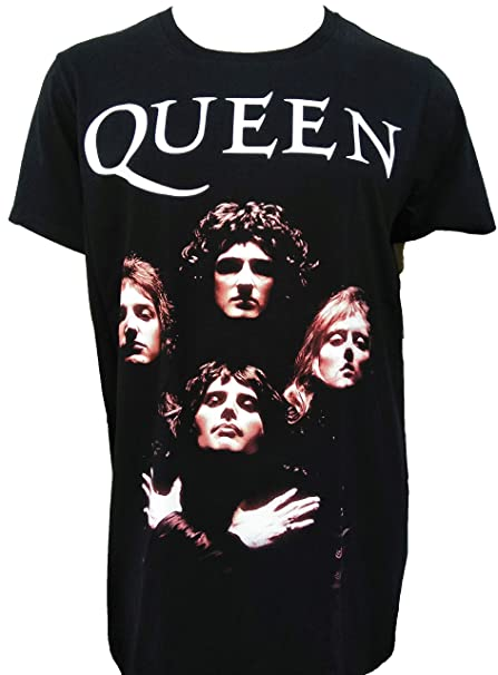 competitive price 3b700 3a789 Queen Mens T-Shirt Rock Band Tee