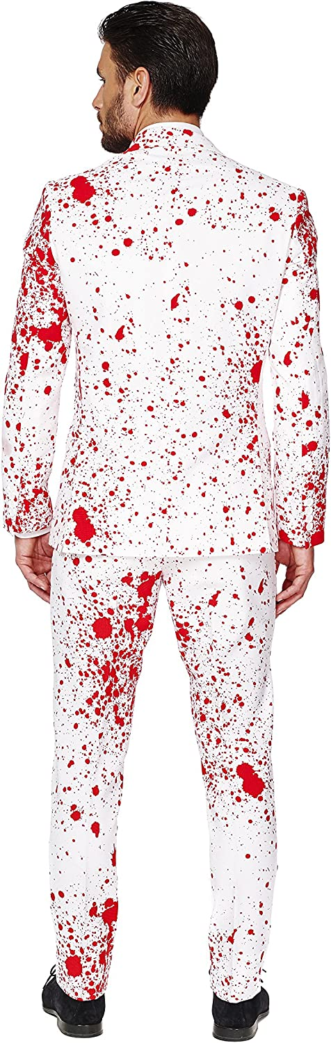 Pants And Tie Abito da Uomo Full Set: Includes Jacket OppoSuits Halloween Suit for Men in Creepy Stylish Print Zombiac