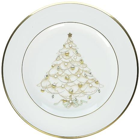 noritake palace christmas gold holiday accent plate - Christmas Plates