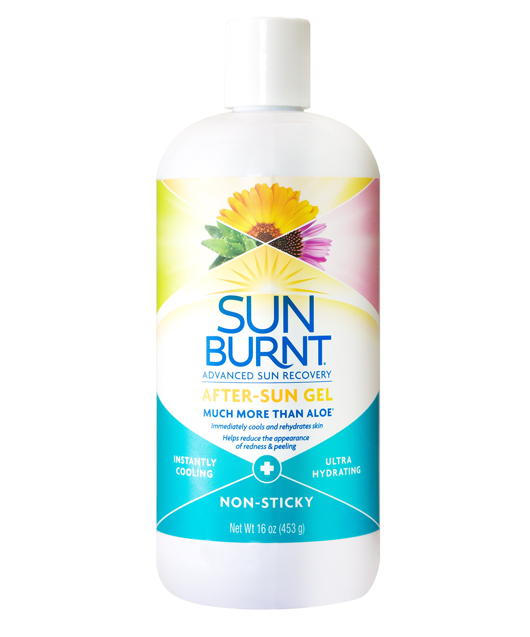 Ultra Hydrating Aloe Vera Gel by SunBurnt, with Natural Organic Aloe Vera + Calendula, Echinacea & Hyaluronic Acid to Help Soothe, Hydrate, Cool Dry Skin, Provide Soothing Sunburn Relief, 16 Ounce by Sunburnt