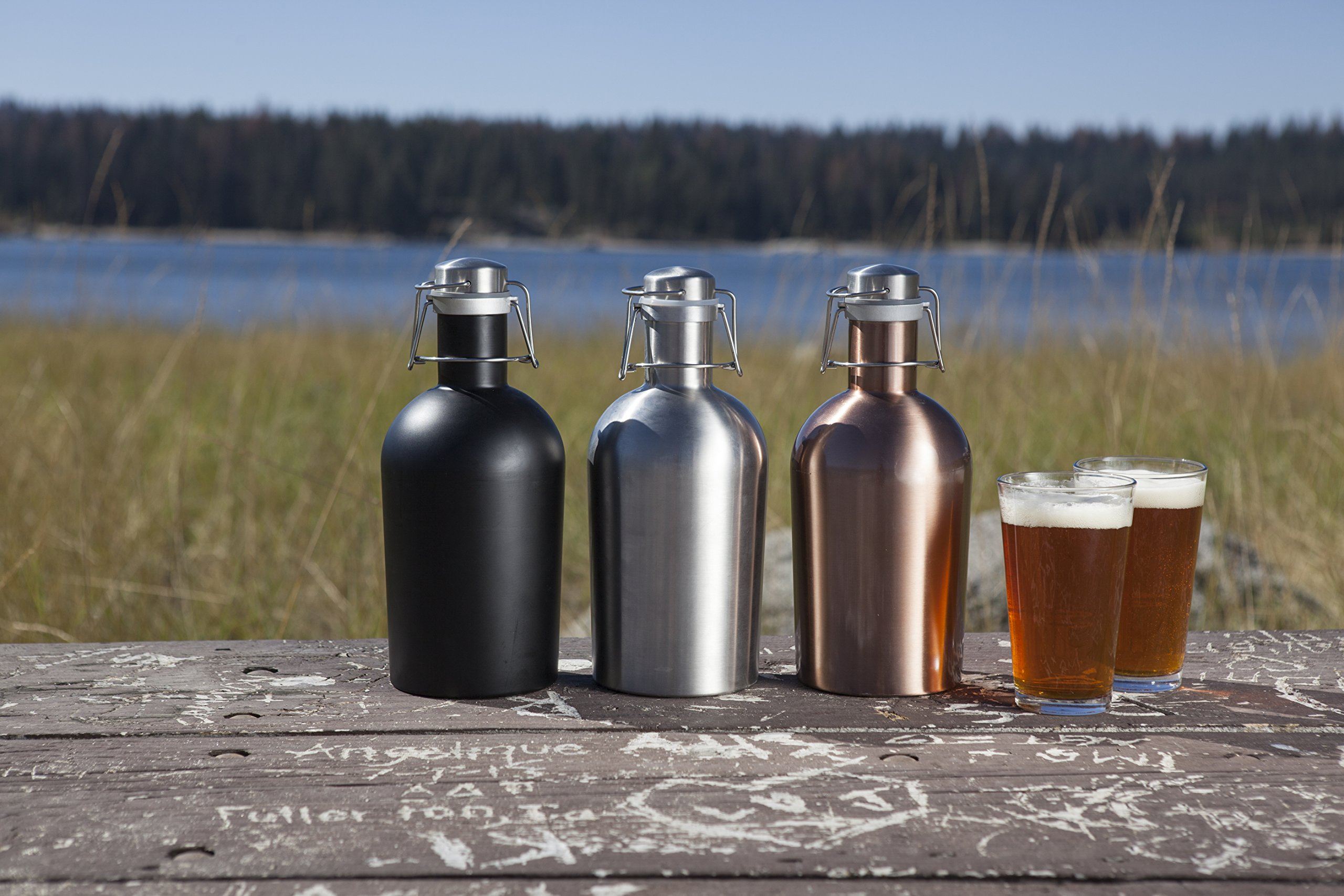 Stainless Steel 64-Ounce Beer Growler by LEGACY - a Picnic Time Brand by LEGACY - a Picnic Time Brand (Image #4)