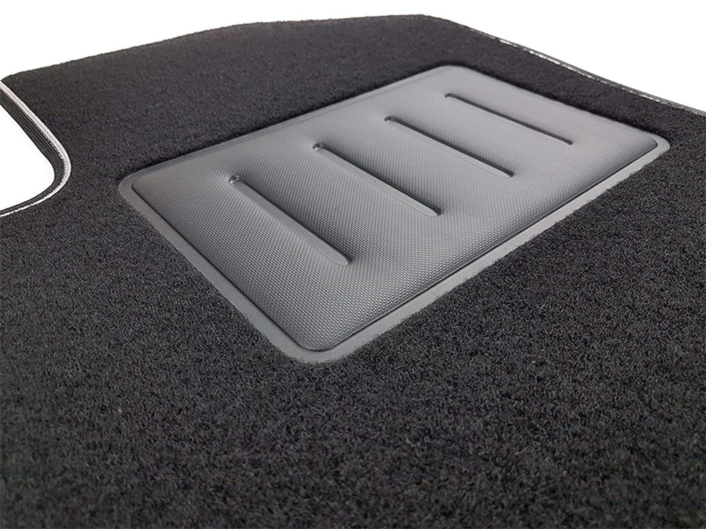 Negro Antideslizante Il Tappeto Auto SPRINT01005 Borde Bicolor para Multipla embellecedor de Goma Reforzado Alfombrilla de moqueta para Coche