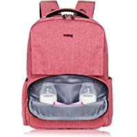 Uoobag Diaper Multi-Function Nappy Bag Backpack with Stroller Straps Stylish and Durable Pink