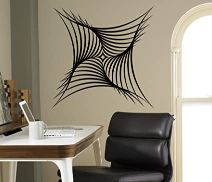Amazon.com: Optical Illusion Wall Decal Abstract Vinyl Sticker Home ...