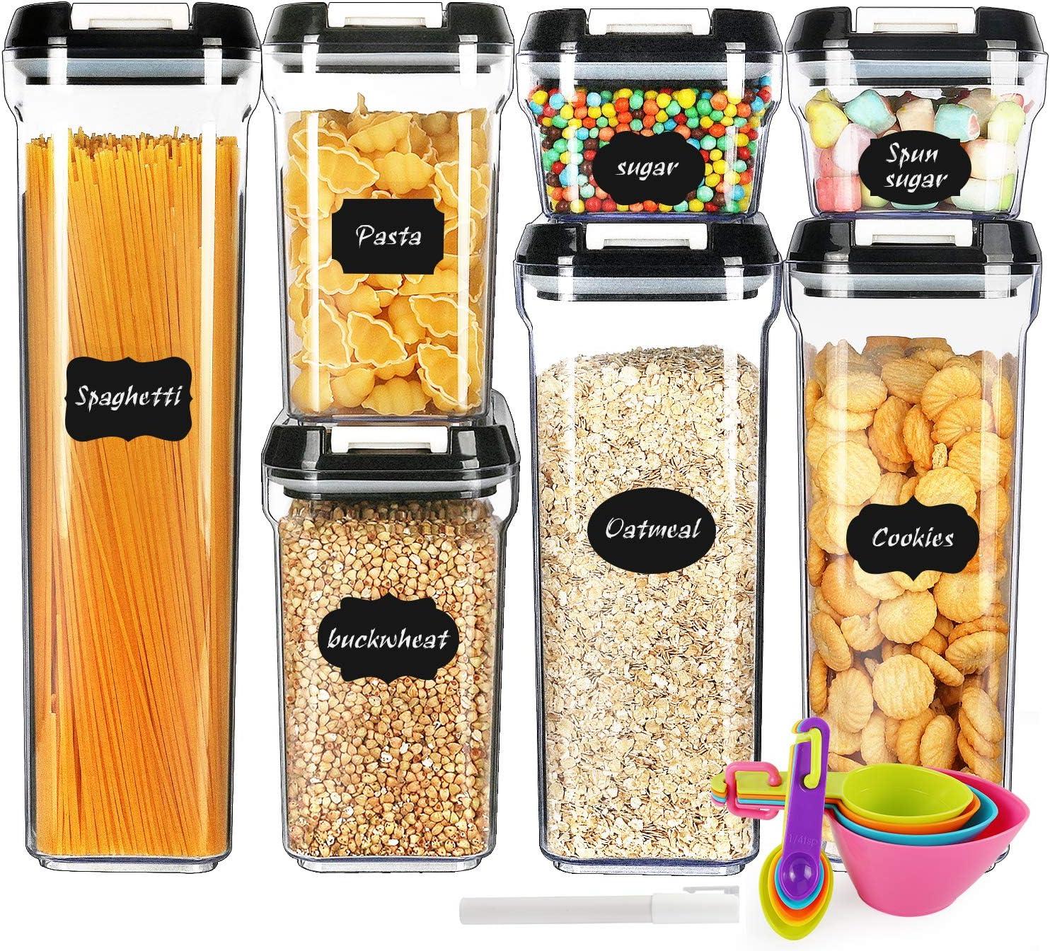 per cereali Harvestfly contenitore ermetico per alimenti senza BPA 2600ml-grey Cover in plastica resistente