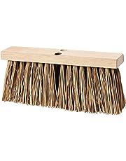"Carlisle 3621941600 Flo-Pac Hardwood Block Stalk Street Broom, Palmyra Bristles, 16"" Block Size, 6-1/4"" Bristle Trim"