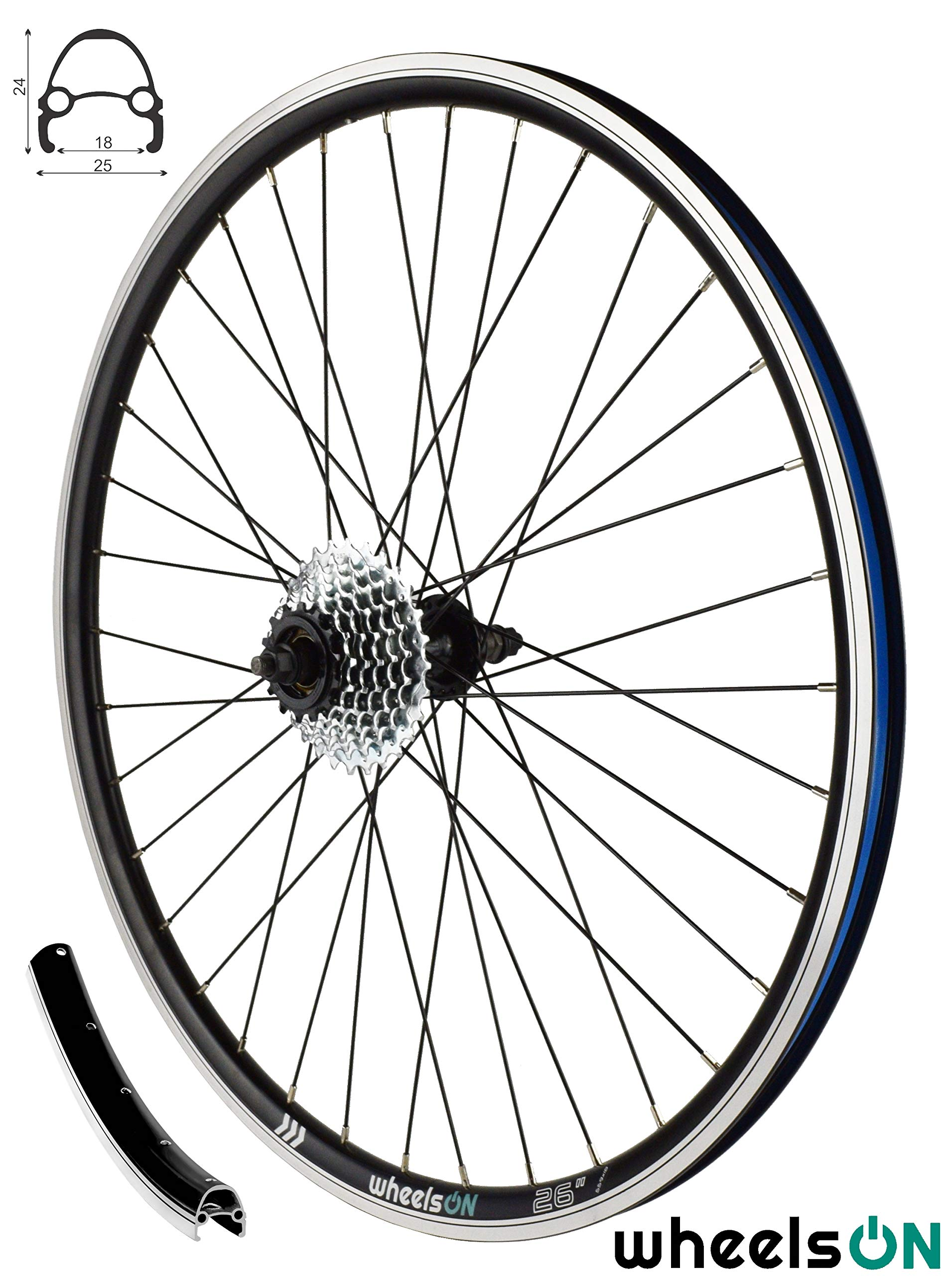 6//7 Speed Shimano Freewheel Silver 36H 700c wheel Rear Wheel Hybrid//MTB