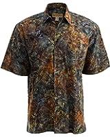 Bass Bend Tropical Hawaiian Batik Shirt By Johari West