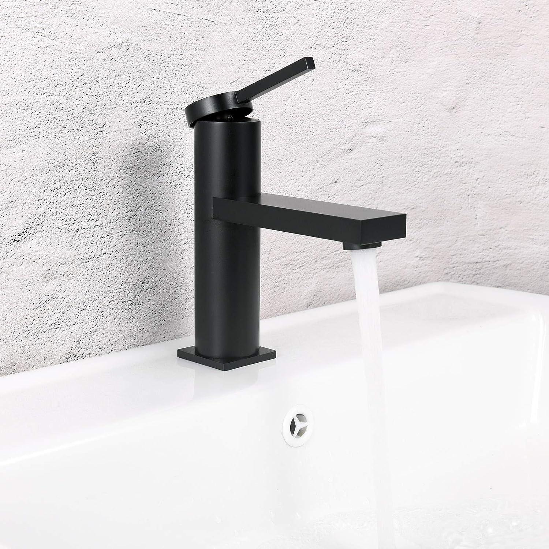 Brass Single Handle Bathroom Basin Sink Basin Mixer Tap Brushed Gold