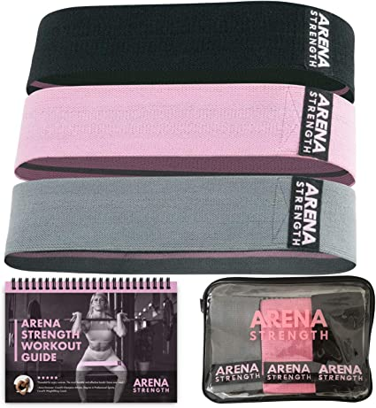 Amazon.com : Arena Strength Fabric Booty Bands: Fabric Resistance ...
