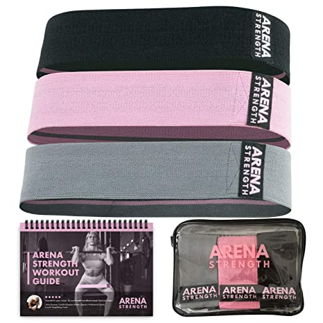 0c20c19e19af Arena Strength Booty Fabric Bands: Fabric Resistance Bands for Legs and  Butt: 3 Pack