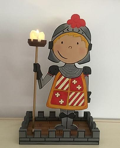 Superbe Kinderzimmerlampe Ritter, Kinderzimmerdeko. Einschlafhilfelicht Kinder  Baby, Handgemachtes Geschenk Aus Holz.