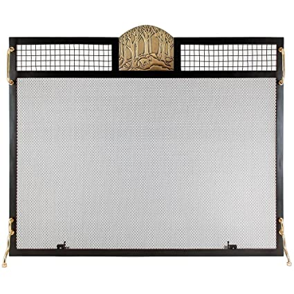 amazon com minuteman international ses 3830af forest fox emblem rh amazon com  minuteman fireplace screen with doors