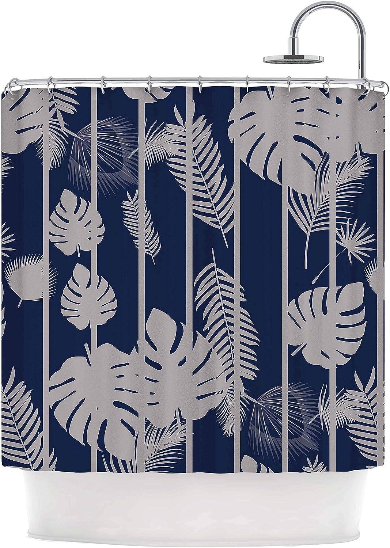 Kess InHouse Zara Martina Mansen Berry Color Bouquet Teal Pink Shower Curtain 69 by 70