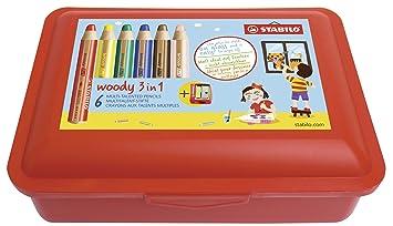 Lápices de, color agua & Cera veces tiza con - Caja de ...