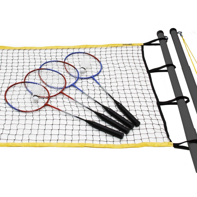 amazon com spalding recreational series badminton set sports