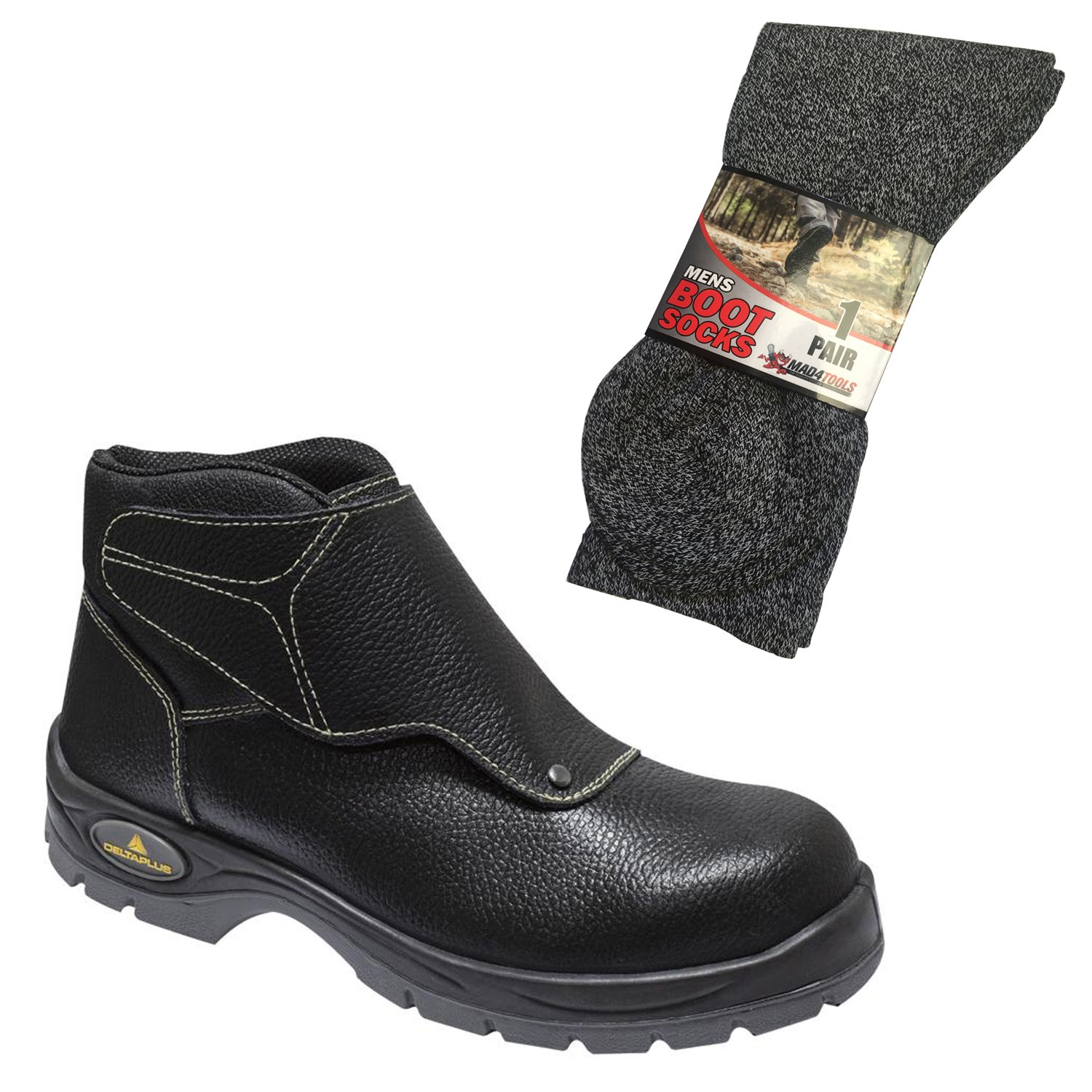 d8d510fae4e Delta Plus Cobra Water Resistant Leather Safety Welder Work Boots ...