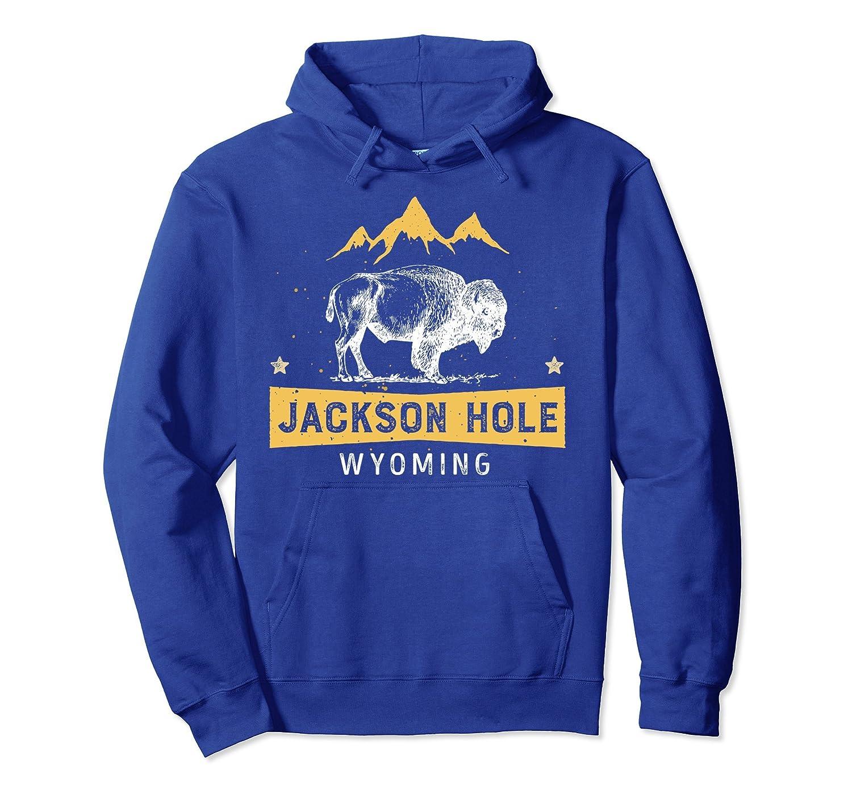 Jackson Hole Hoodie Wyoming Vintage Bison Buffalo Shirt