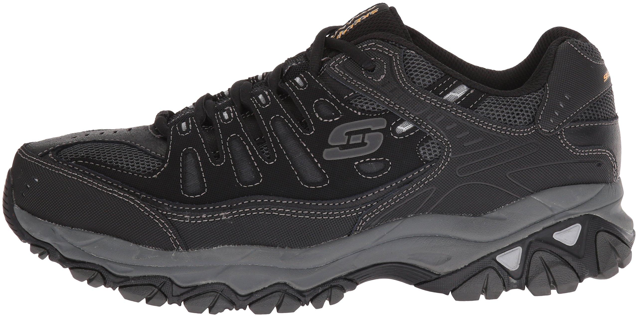 Skechers Men's AFTERBURNM.FIT Memory Foam Lace-Up Sneaker, Black, 6.5 M US by Skechers (Image #5)