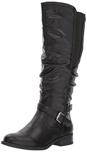 White Mountain Women's Lyle Wide Shaft Black 6.5 ...