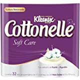 Kleenex Cottonelle Soft Care Papel Higiénico, color Blanco, Paquete de 32 Piezas