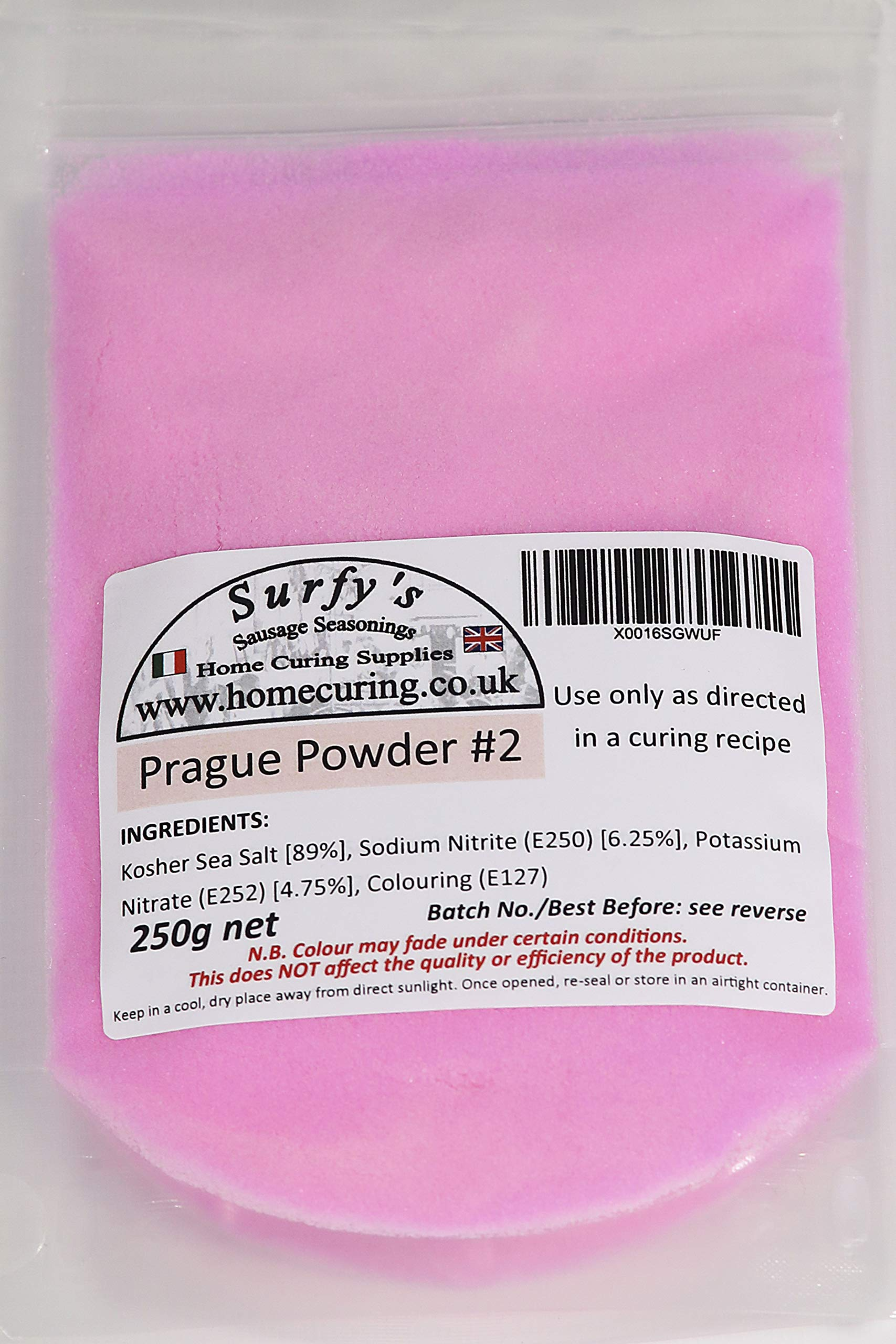 Surfy's Prague Powder #2 (Cure Number 2) Instacure (2) Pink Curing Salt (250g)