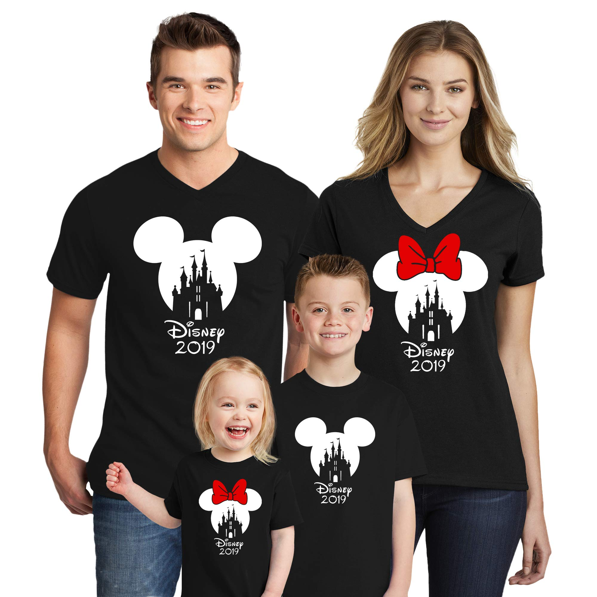 Natural Underwear Family Trip #2 Castle with 2019 T-Shirts Shirts Trip Mouse V Neck T Shirts Black Youth Girls Large by Natural Underwear