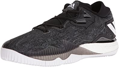 adidas Performance Men's Shoes | Crazylight Boost Low Basketball, Black/ White/Black,