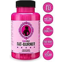 Slim Girlz Fat Burner | Pilule minceur | Perte de graisse et de poids | Coupe faim | Brûleur de graisse pour la perte de poids pour femmes | 10 ingrédients actifs | Sans stimulants | Pilules de régime efficaces sûrs et naturels | Végan | Fabriqué dans l'UE | 60 capsules véganes