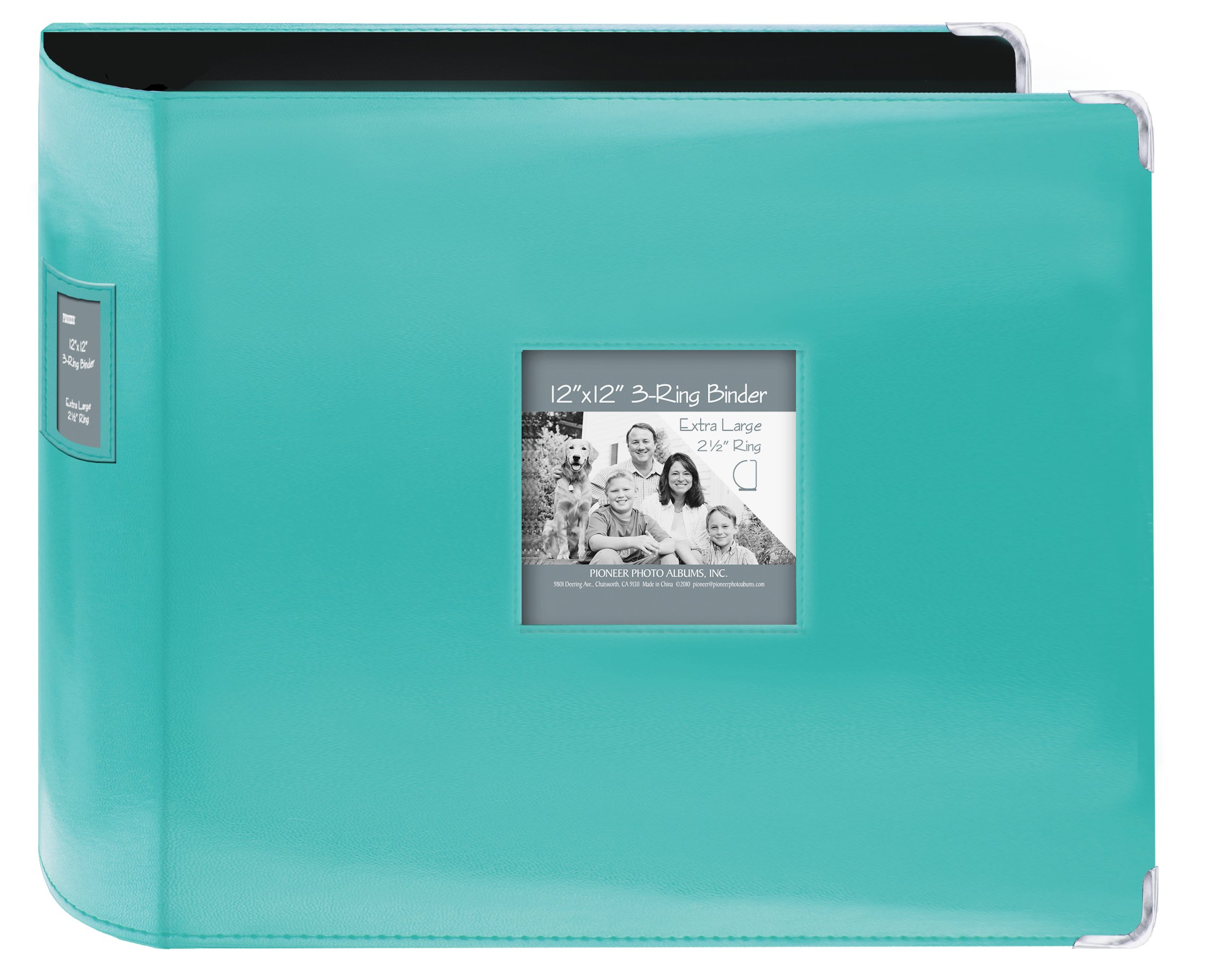 Pioneer Sewn Leatherette 3-Ring Binder 12''X12''-Bright Blue