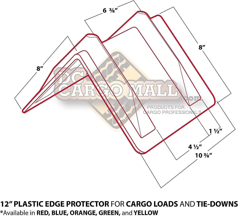 DC Cargo Mall Green Vee Board Trailer Cargo Load Corner Edge Protector and Truck Tie-Down Strap Guard Bumper Cushion 8 x 8 x 12