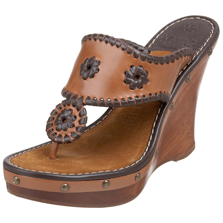 Jack Rogers Women's Marbella Wedge Sandal B002MXY29S 7 B(M) US|Dark Brown