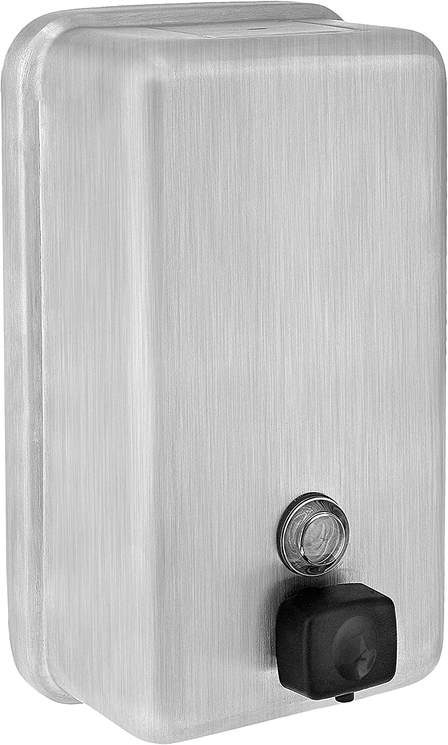 Alpine Industries Vertical Wall Mount Stainless Steel Soap Dispenser, Stainless Steel