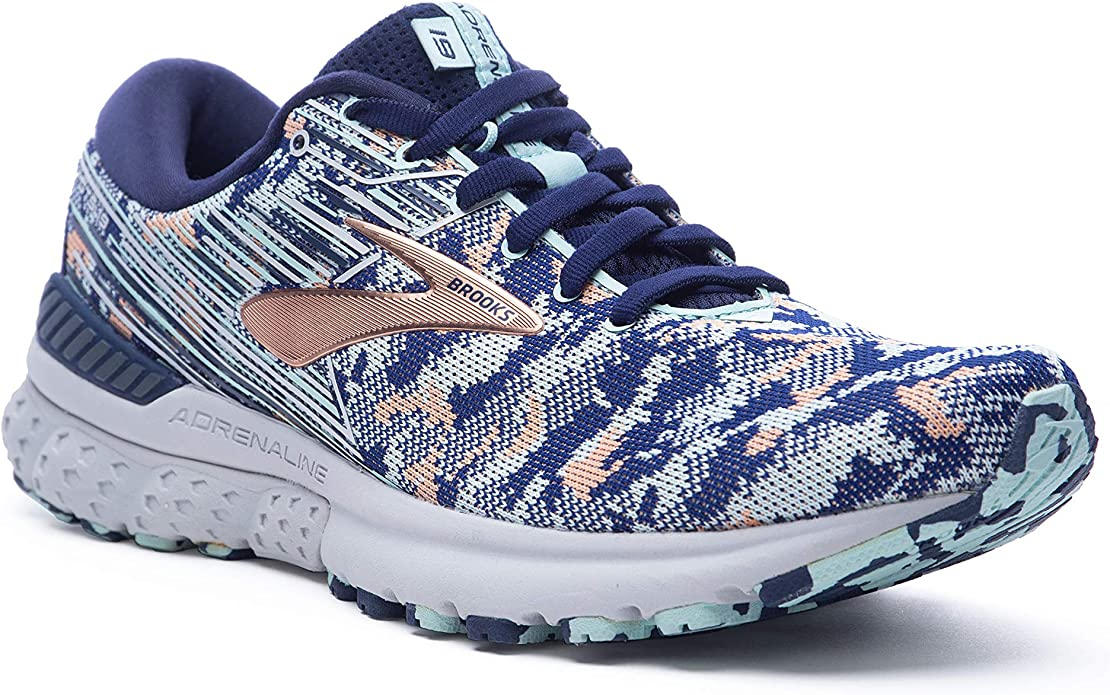 Brooks Adrenaline GTS 19 Sneakers Laufschuhe Damen Blau/Orange
