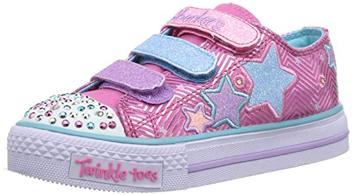 Skechers Shuffles Triple Up 10249L - Zapatillas de Lona, Color Rosa, Talla 35: Amazon.es: Zapatos y complementos