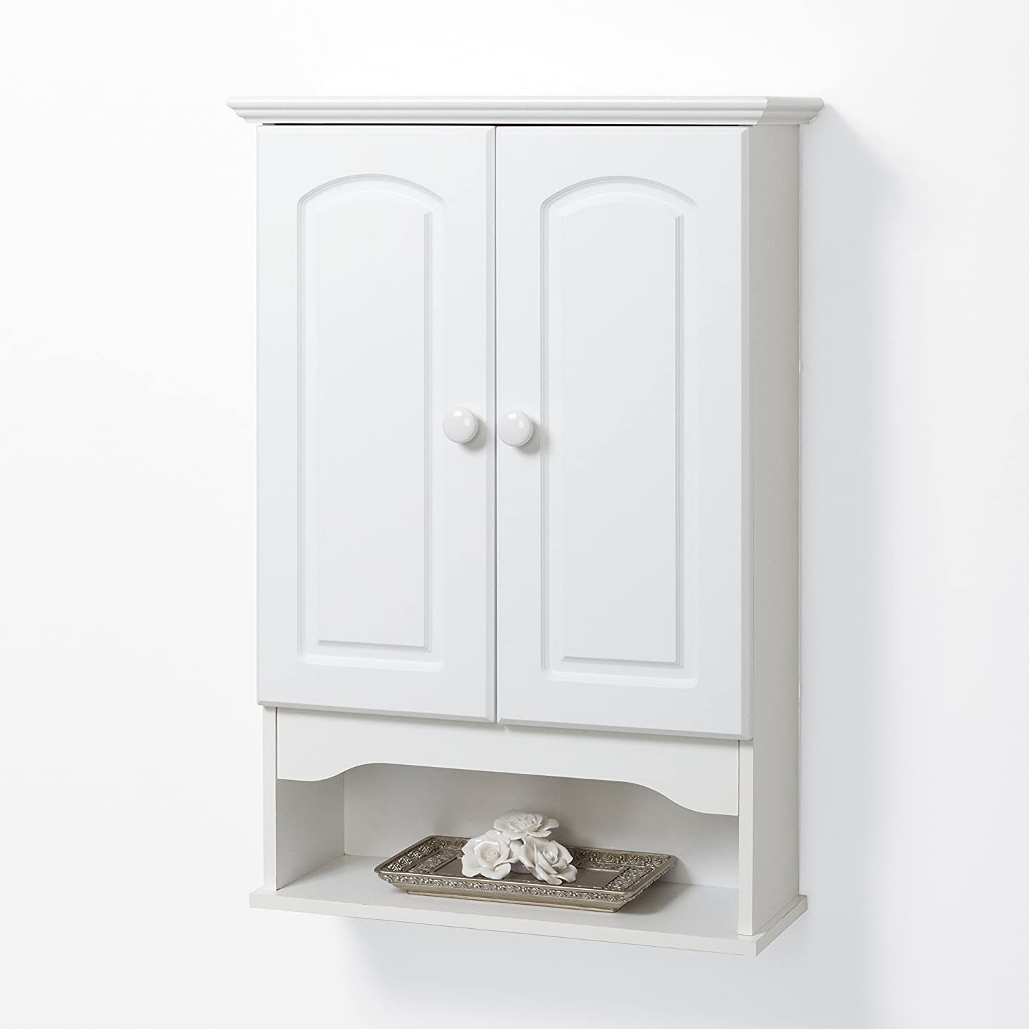 Amazon.com: Zenna Home E9615W, Hartford Wall Cabinet, White ...