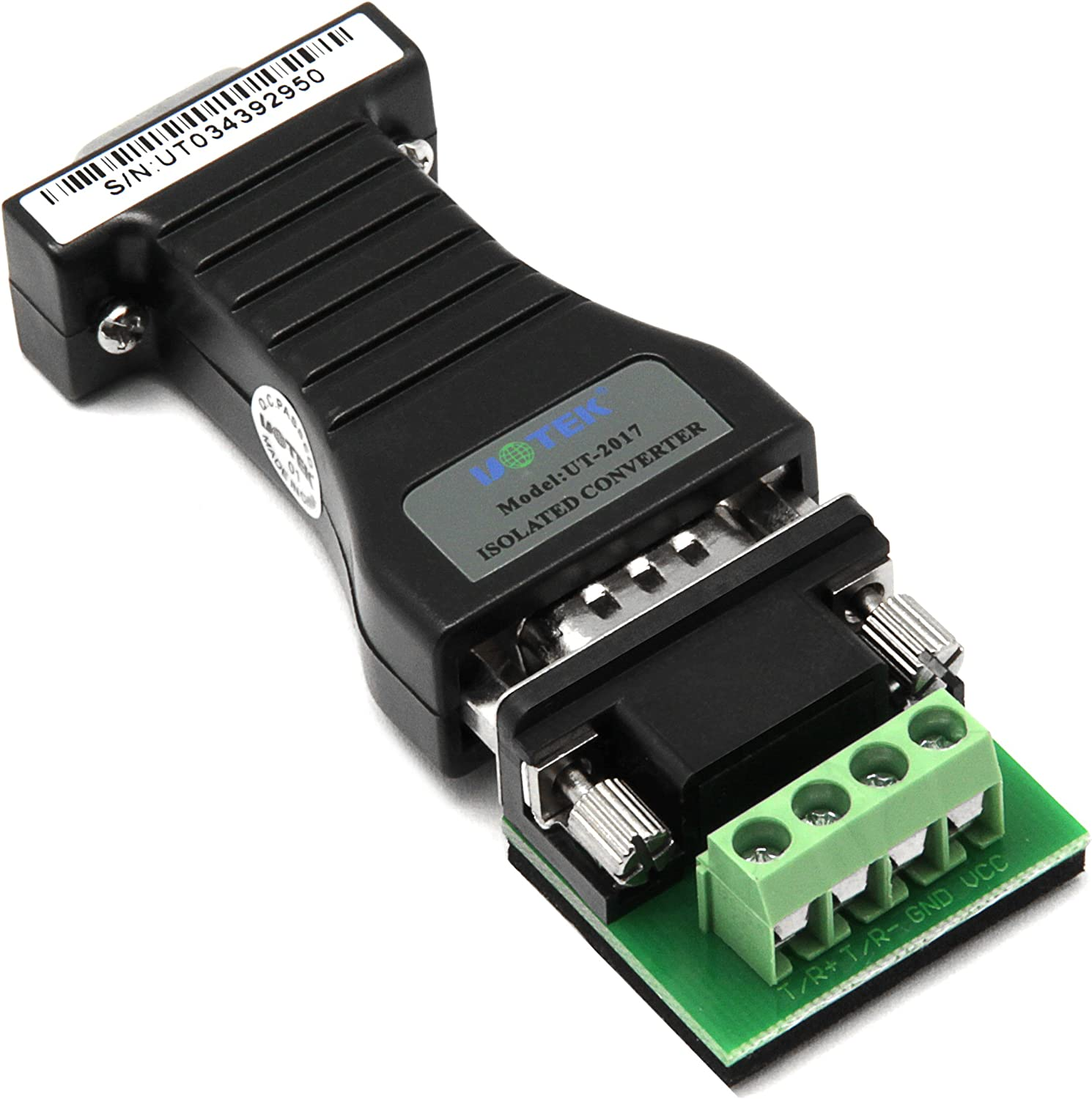 UTEK 232 to 485 RS232 to RS485 Port-Powered Serial Converter Adapter Opto-Isolated Photoelectric Isolation UT-2017
