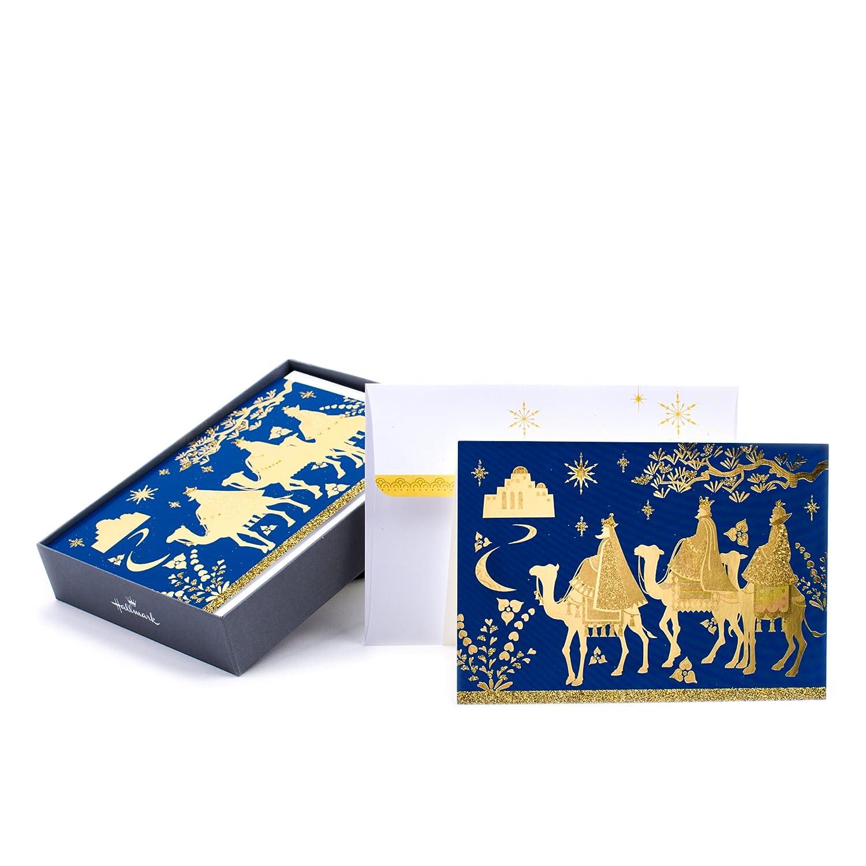 Amazon.com : Hallmark Religious Christmas Boxed Cards, Three Kings ...