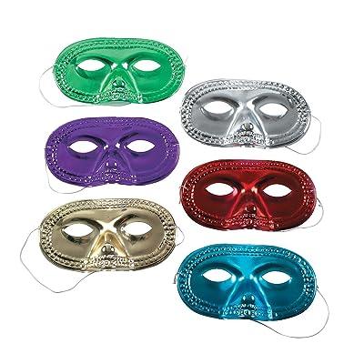 Metallic Half-Masks (4 dz): Baby