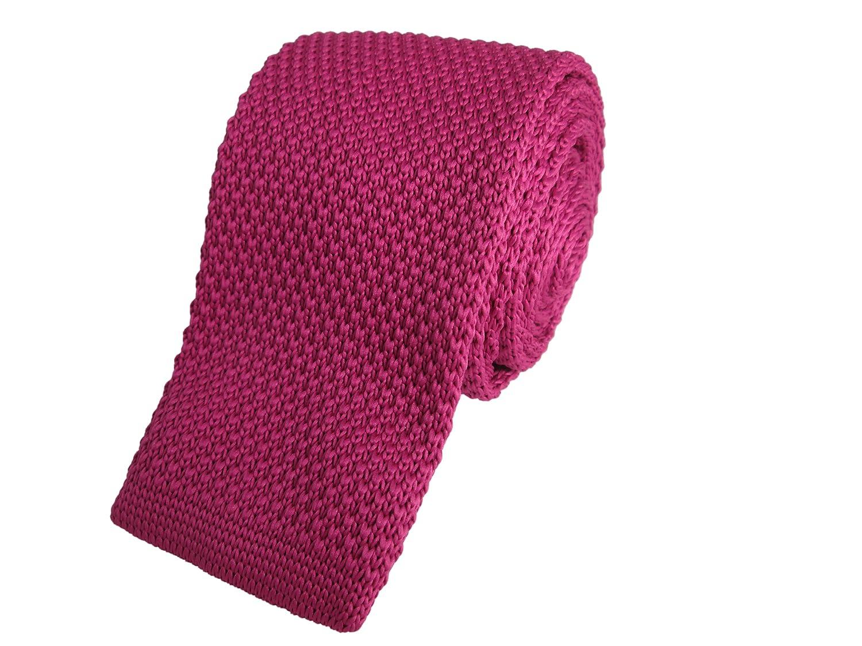 Fuschia Skinny de punto corbata: Amazon.es: Ropa y accesorios