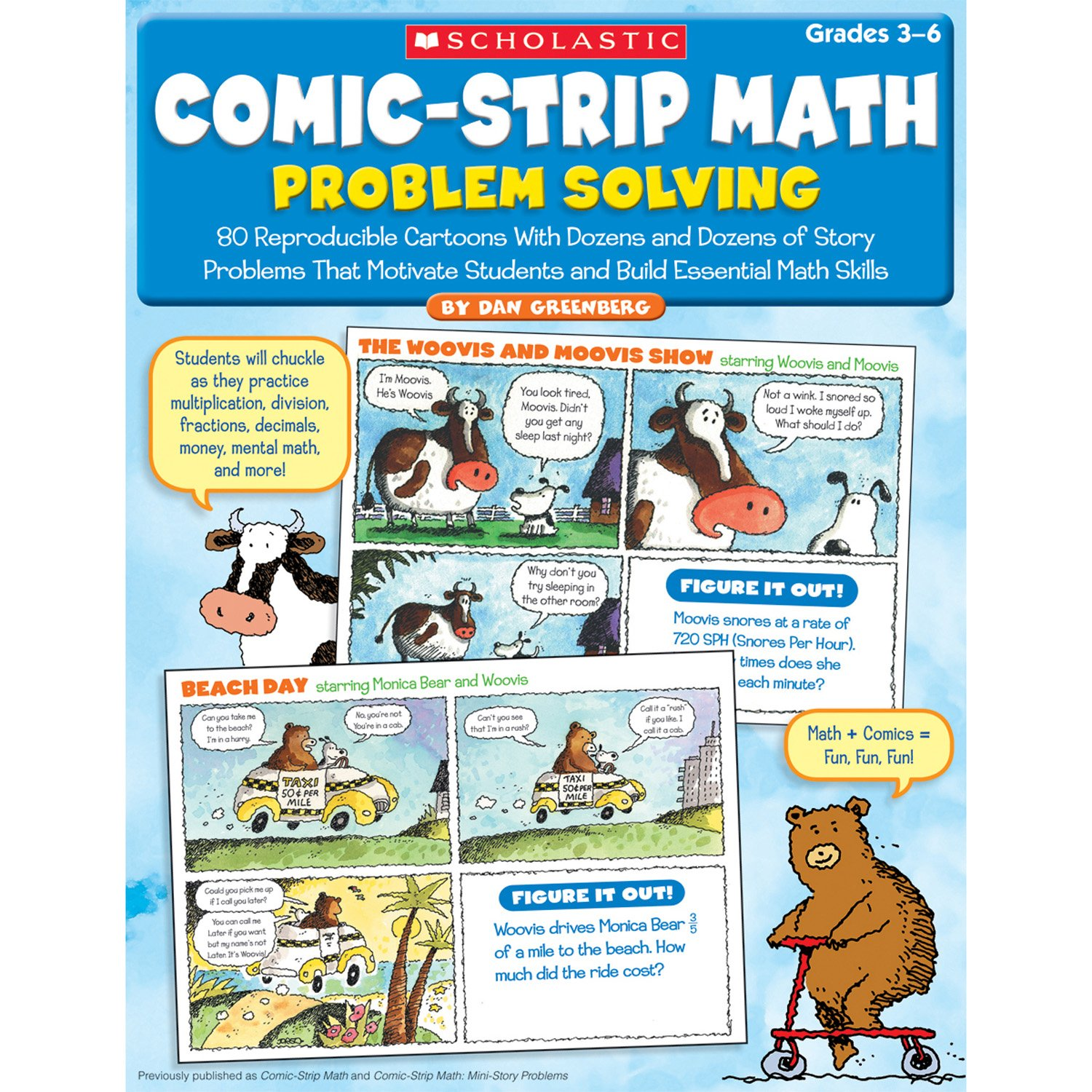 Buy Comic-Strip Math: Problem Solving: 80 Reproducible Cartoons With ...