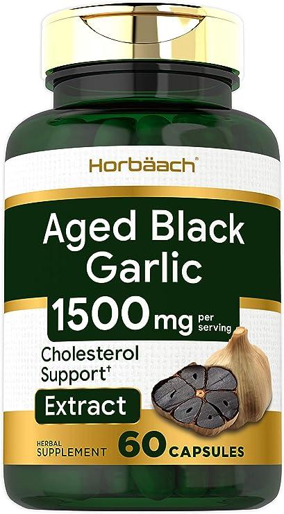 Ajo Negro Envejecido 1000 Mg 60 Cápsulas Extracto Fermentado Sin Omg Sin Gluten Por Horbaach Health Personal Care