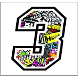 Adhesivo NUMERO 3 CARRERA RAZA 12 cm - STICKER BOMB - gara cross coche motocicleta pista sticker