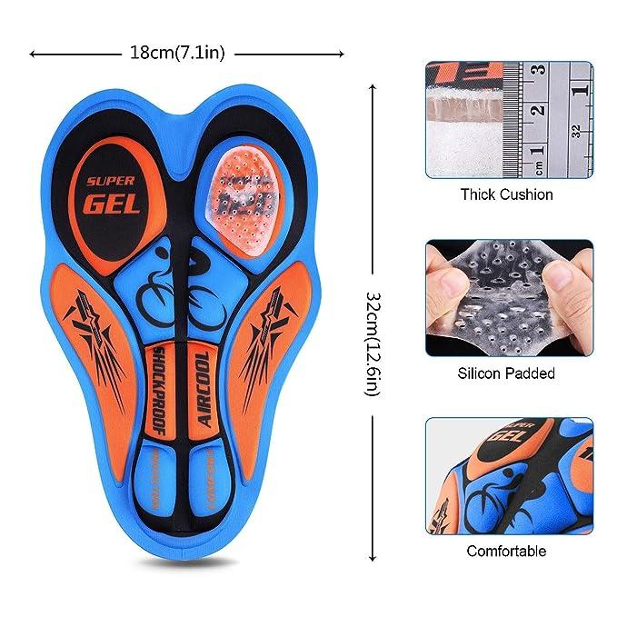 Amazon.com: Pantalones cortos de ciclismo acolchados 4D para ...