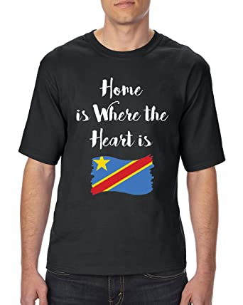 dda43d0c1 Amazon.com  NIB Home is Where The Heart is Congo Unisex T-Shirt Tall ...